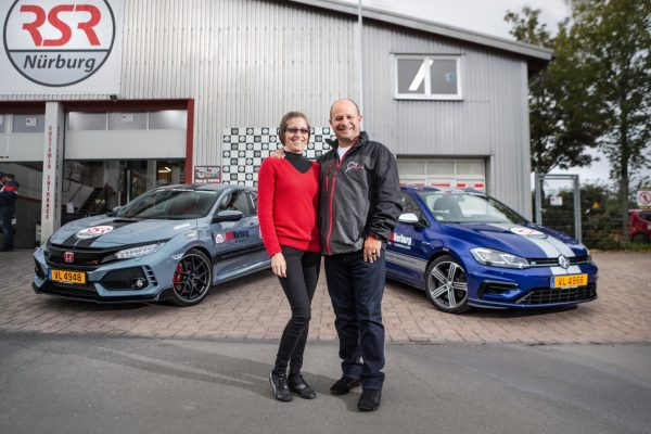 couple with rented cars at RSR Nurburg. Ivy shares what it's like to drive the Nurburgring