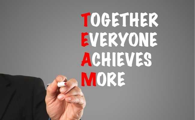 team - together everyone acheives more image