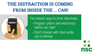 distraction inside the car