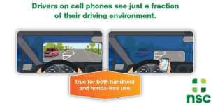 drivers on cell phones infographic