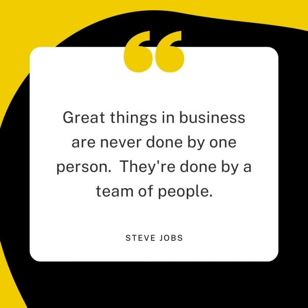 steve jobs quote about getting things done in business and teams