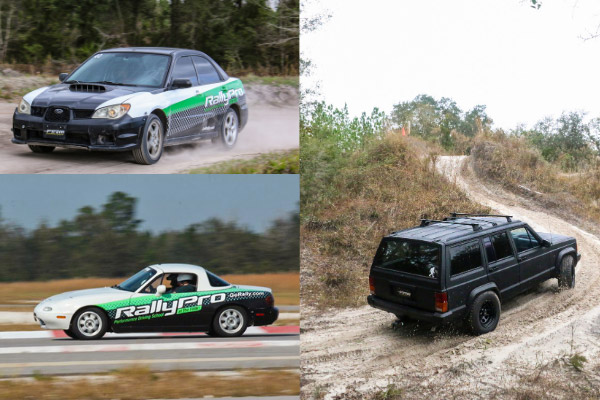 RallyPro performance driving school in Florida offering Rally School, Road Racing Classes, Off-Roading, and Teen Safety