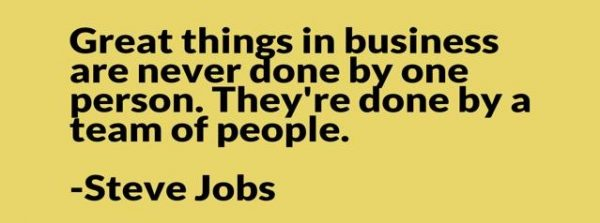 great things in business are never done